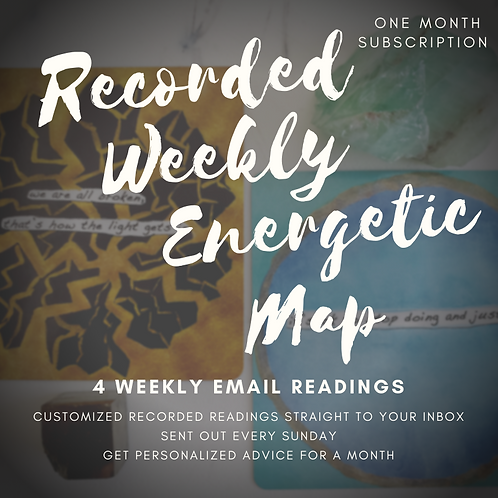 Recorded Weekly Energetic Map Email Subscription
