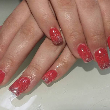 shellac red and silver