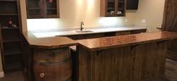 whiskey barrel, penny rosin counter