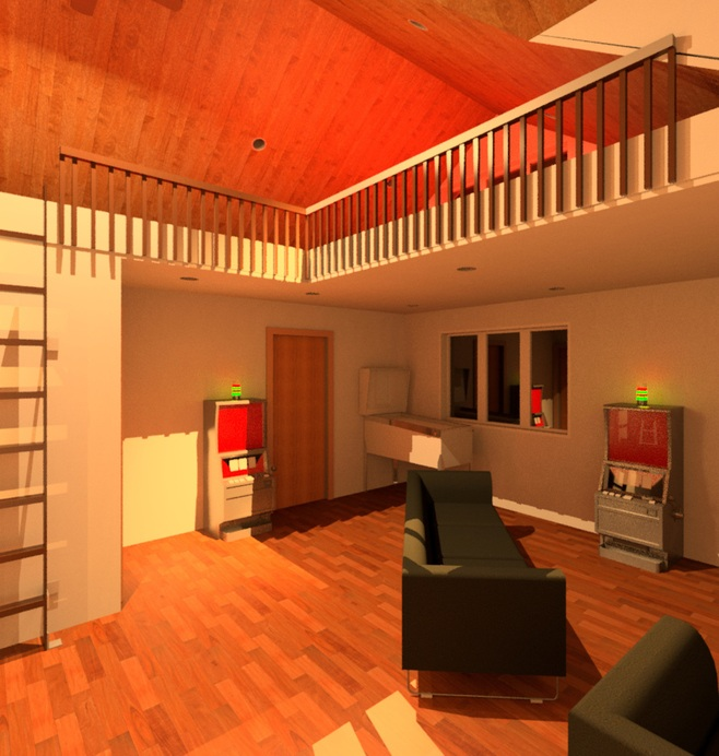 basement renderings, Shaul Designs L