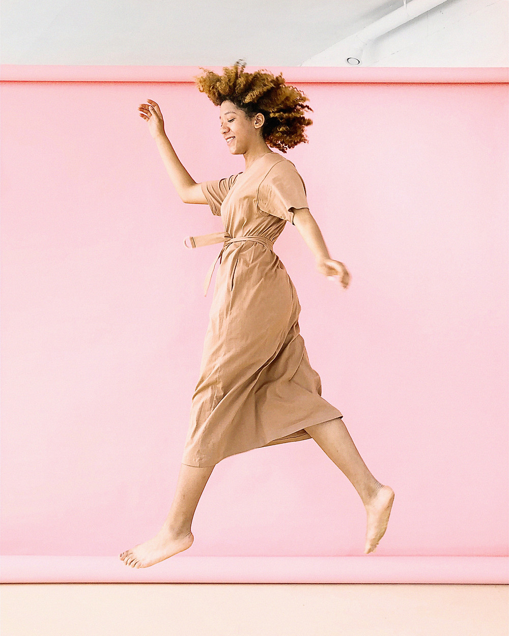 Woman dancing with confidence