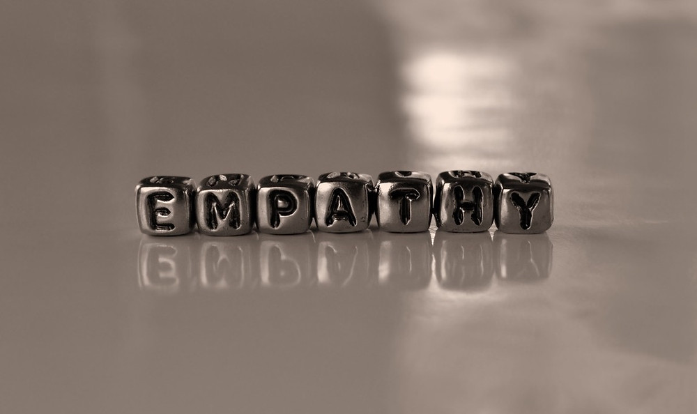 7 charms aligned that spell the word empathy.