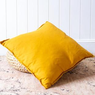 Linen cushion (mustard)
