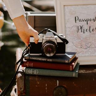 Vintage Camera & Books