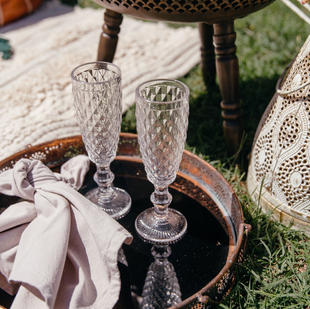 Crystal Look Champagne Flute