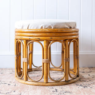 Vintage cane stool