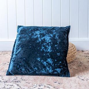 Velvet cushion (teal)