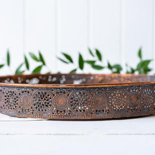 Mirrored Metal Tray