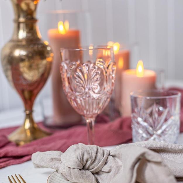 Pink Bohemian Wine Goblet (Acrylic)
