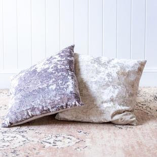 Velvet cushion (small; 2 colours)