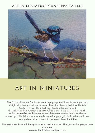 Art In Miniatures Poster For Newsletter.