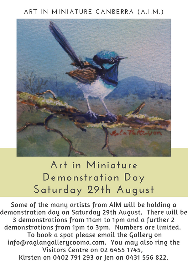 Art In Miniature Demonstration Day Flyer