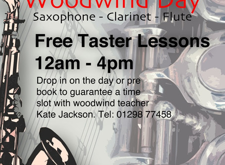 Pop along to my Woodwind Day! :-) Saturday 11th November 2017 - Buxton