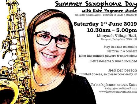 Summer Saxophone Day!! :-)