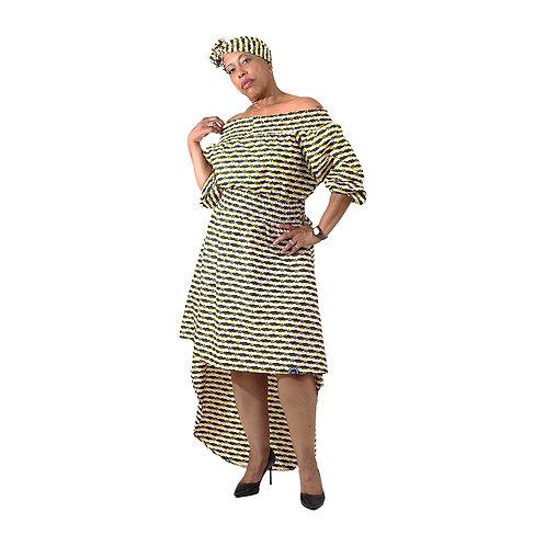 Ankara Princess Dress - with Headwrap