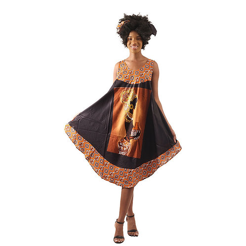 Afrocentric Sun Dress & Headwrap