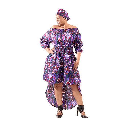 Hi-Lo Ankara Dress