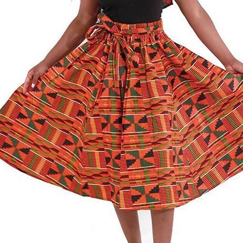 Ankara Skirts with Head Wraps