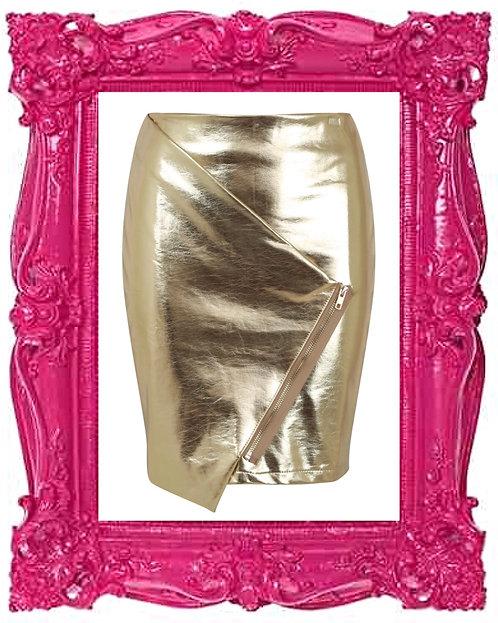 Foil Crossover Skirt