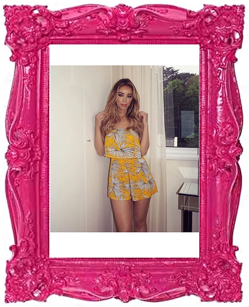 Celeb Leaf Print Playsuit