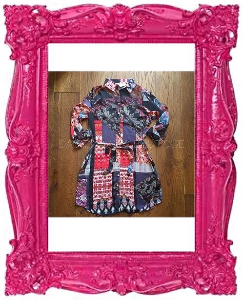Vintage Patch Shirt Dress