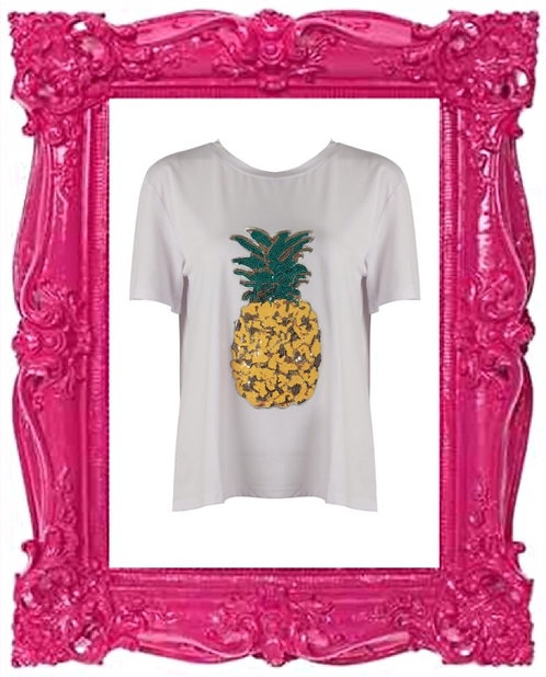 Sequin Embellished Pineapple Tee