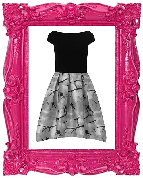 Ascot Floral Contrast Dress