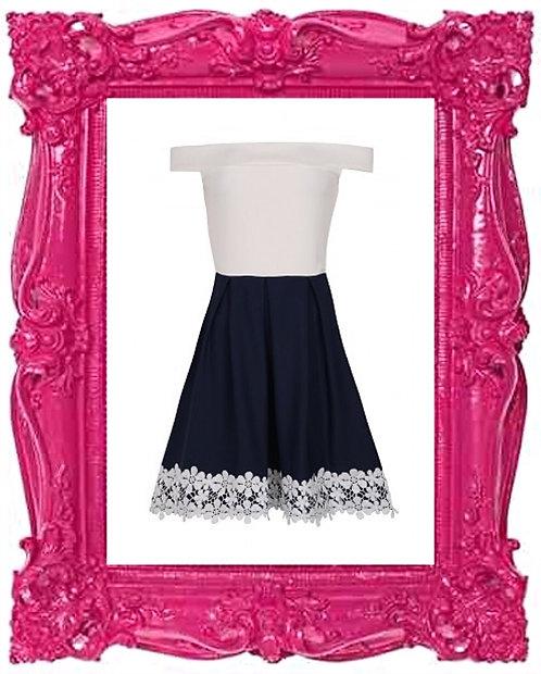 Crochet Bardot Dress
