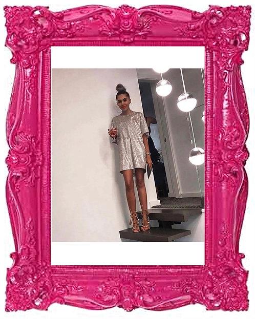 Champagne Campaign Glitter Dress 2 Colours