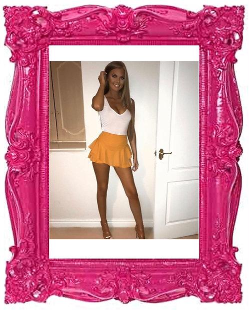 Mustard Ruffle Rara Shorts