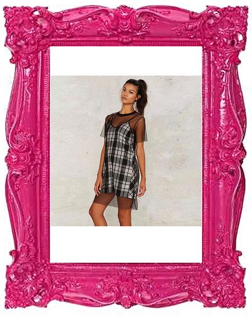 Sheer Mesh T-shirt Dress