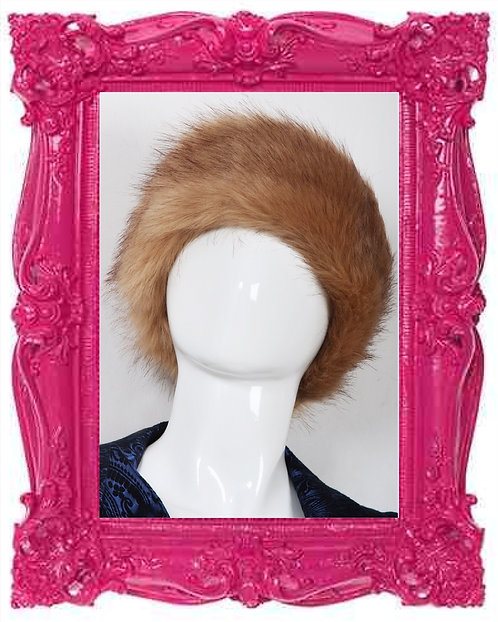 Caramel Faux Fur Headband