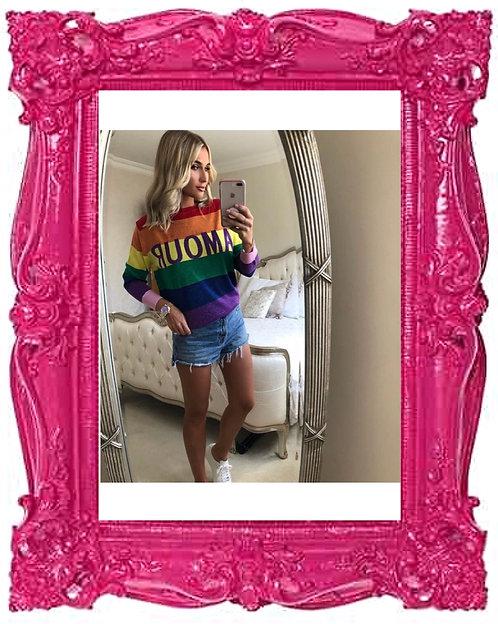 Rainbow Lurex Amour Knit Jumper
