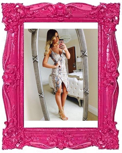 Celeb Billie Snake Print Wrap Dress