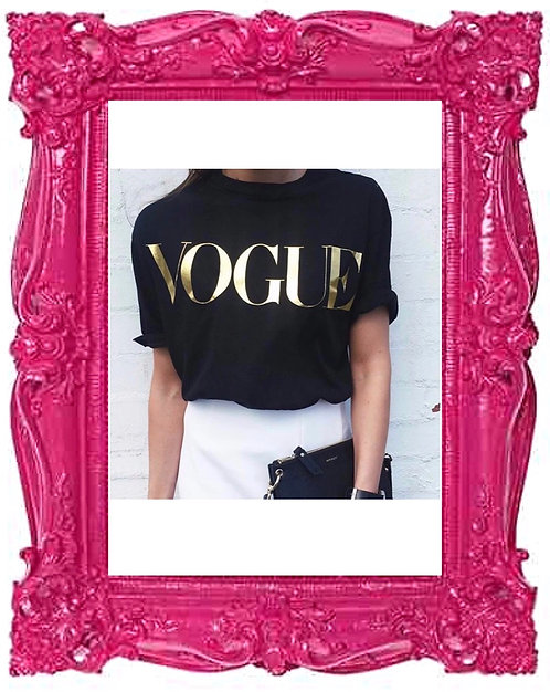 Black/Gold Celeb VOGUE T-Shirt