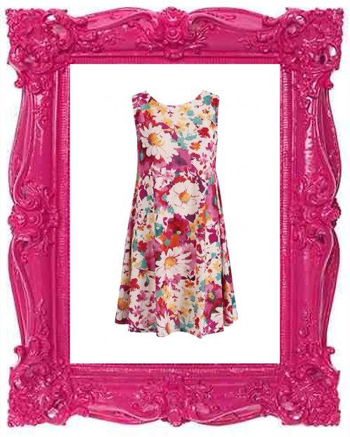 Summer Floral Swing Dress