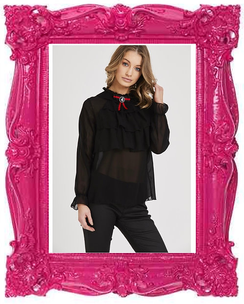 Gucci Inspired Ruffle Blouse 3 Colours