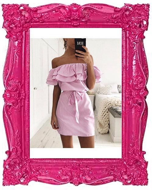 Ruffle Stripe Summer Dress 3 Colours