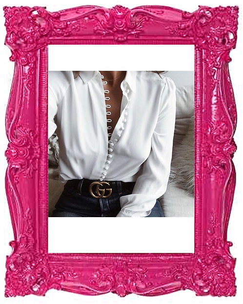 White Multi Button Blouse