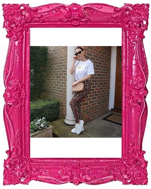 Celeb Gucci Inspired Stripe Leggings