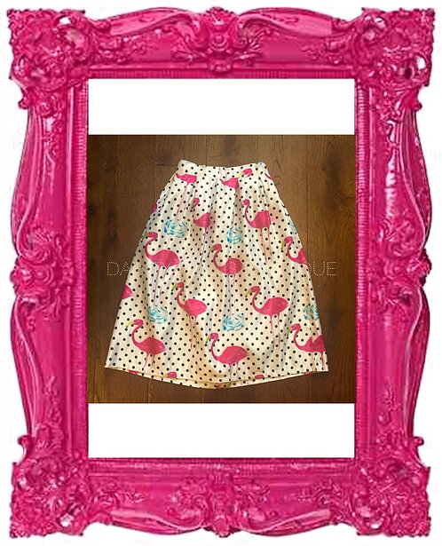 Polka Dot Flamingo Skirt