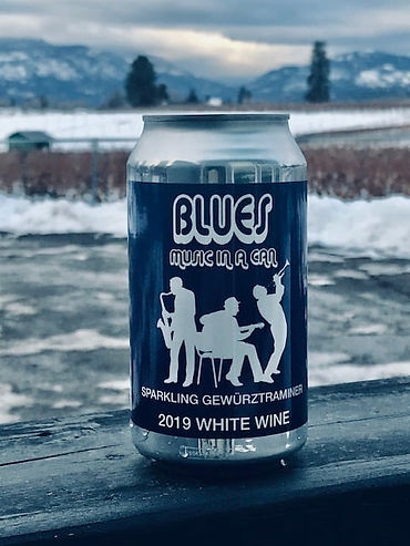 Blues wine can music okanagan gewurztram