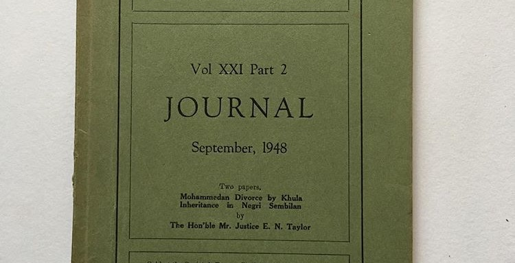 Journal Of The Malayan Branch of the Royal Asiatic Society Vol XXI Pt 2  Sep1948