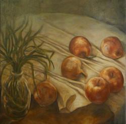Nature morte aux pommes et aux oigno