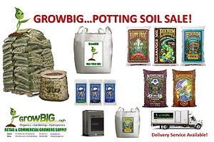 Potting Soil Sale at GrowBIGogh Gilroy and Salinas