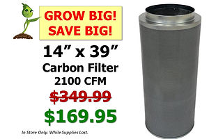 Carbon FIlter 14x39 $169.95 at GrowBIGog