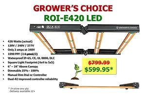 Grower's Choice ROI-e420 on Sale at GrowBIGogh