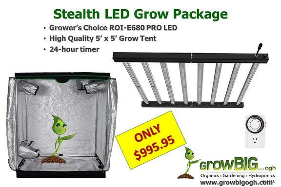 Stealth ROI-E680 LED Grow Light & Tent o