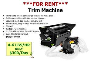 Twister T6 Trim Machine Rental available at GrowBIGogh Gilroy CA
