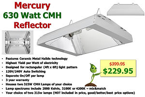 Mercury 630 CMH Fixture only $229.95 _ G
